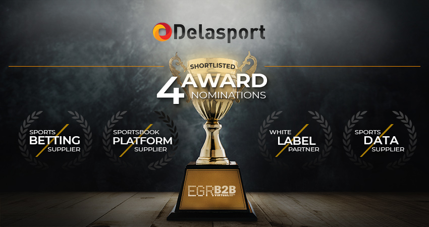 Delasport shortlisted in four categories for the EGR B2B Virtual Awards 2020!