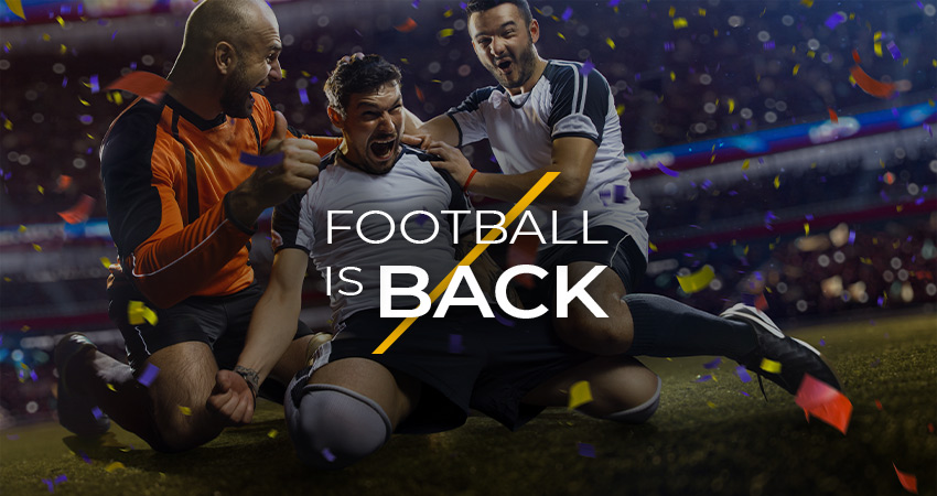 Football is back, stay on the pitch with Delasport!