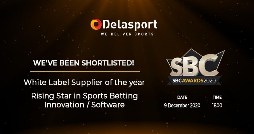 Delasport has been shortlisted at the prestigious SBC Awards 2020