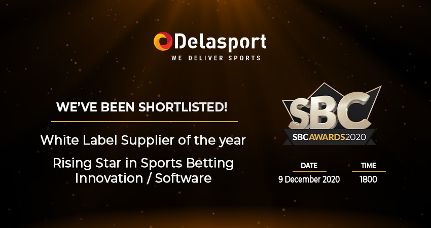 Delasport has been shortlisted at the prestigious SBC Awards 2020
